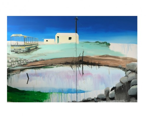 Stephanie Abben_Lepsien Art Foundation_greek home II backside Oel 2014 200x300cm