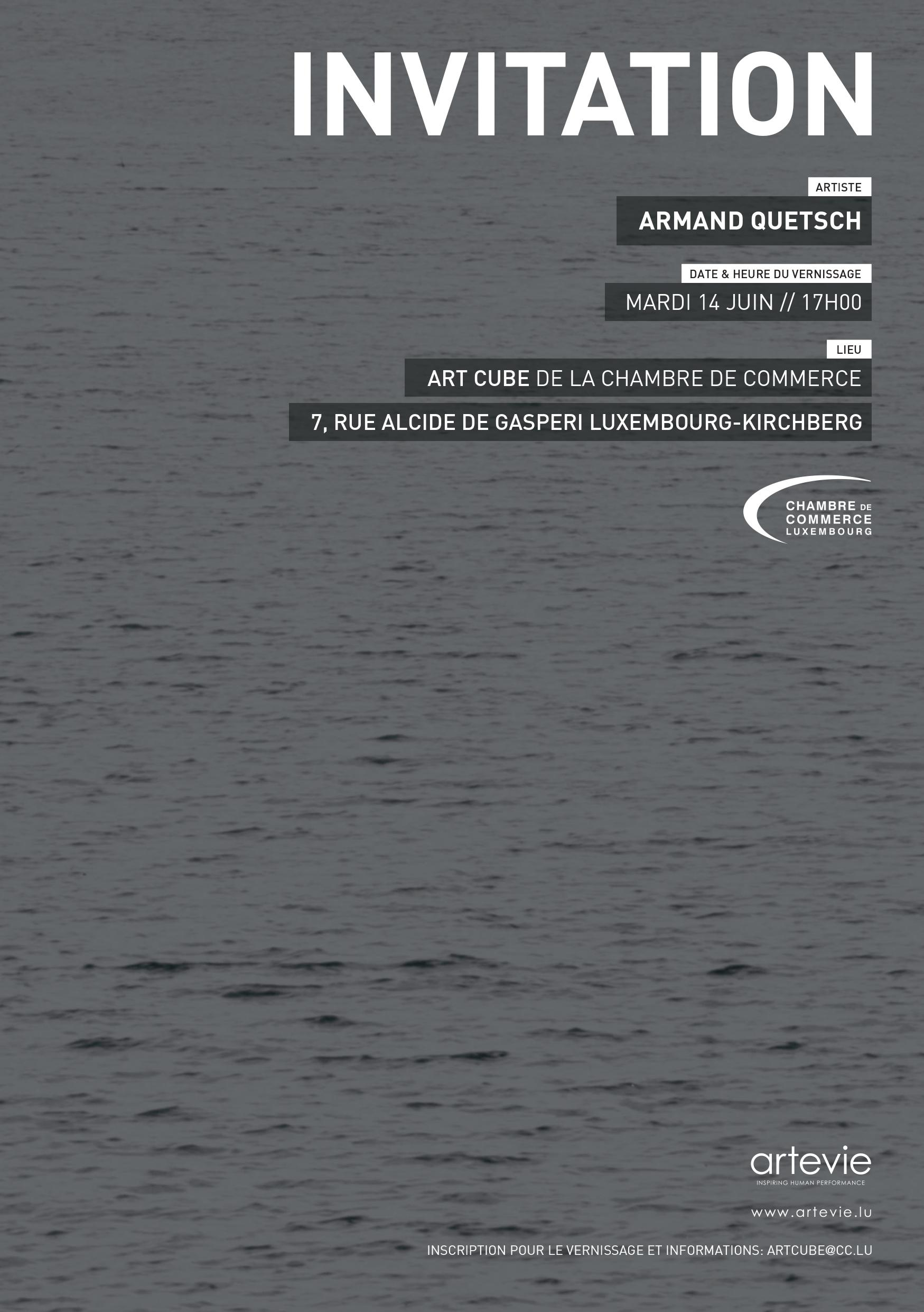 Sans Titre Armand Quetsch in the Art Cube Luxembourg